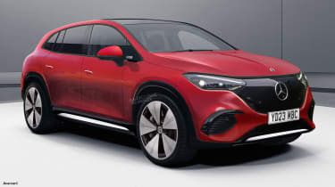 Mercedes EQE SUV - front (watermarked)