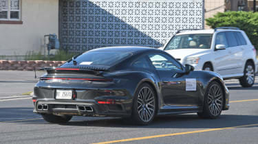 Porsche 911 Turbo S - rear 3/4 tracking - spies