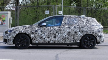 2019 BMW 1 Series spy shot side