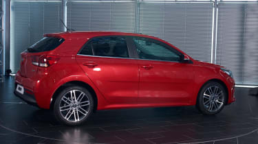 New Kia Rio - reveal event rear quarter