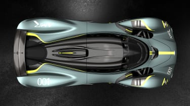 Aston Martin Valkyrie AMR Track Performance Pack Stirling Green and Lime - above