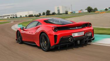 Ferrari 488 Pista - rear cornering