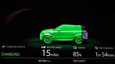Range Rover Sport PHEV - charging screen