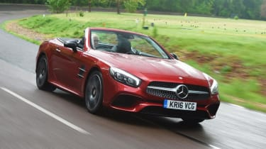 Used Mercedes SL - front action