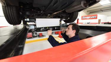 MOT test feature - underneath car