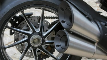 Ducati Diavel review - exhaust