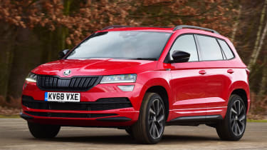 skoda karoq action shot