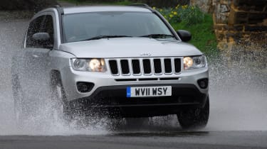 The Compass has all the off-road ability of more expensive larger Jeep models.