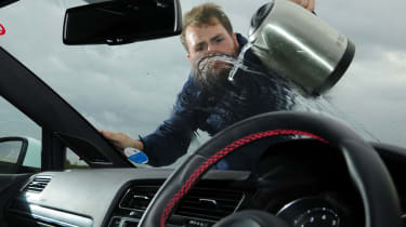 Winter driving - clearing windscreen