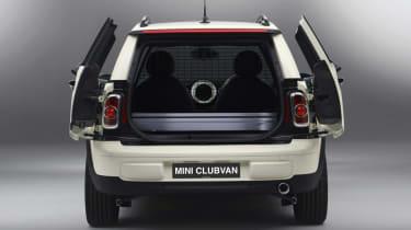 MINI Clubvan boot doors open