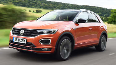 Used Volkswagen T-Roc - front tracking