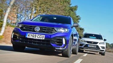 Volkswagen T-Roc R vs Cupra Ateca - front