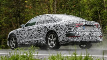New Audi A8 spies side rear rain