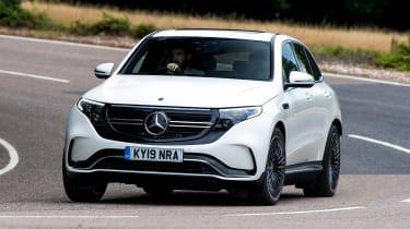 Mercedes EQC - front cornering