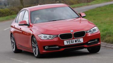 BMW 320d front cornering