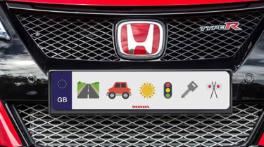 Honda Emoji numberplate