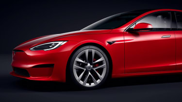 Tesla Model S facelift - front detail