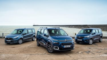 Citroen Berlingo XL vs Vauxhall Combo Life XL vs Ford Grand Tourneo Connect header