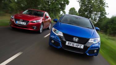 Honda Civic Sport vs Mazda 3 - header