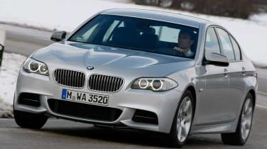 BMW M550d xDrive front cornering