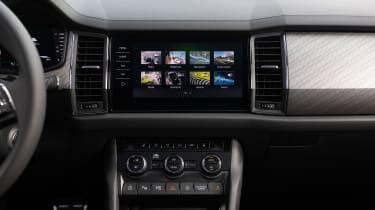 2021 facelifted Skoda Kodiaq SUV - touchscreen