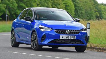 Vauxhall Corsa-e - cornering front