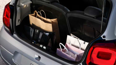 The boot capacity is 196-litres, which is suitable for small shopping bags, with the rear seats down, the boot opens up to 780-litres.