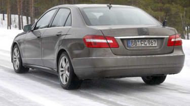 Mercedes E-Class facelift saloon rear