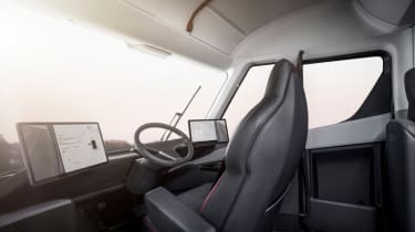 Tesla lorry - electric truck revealed - cockpit