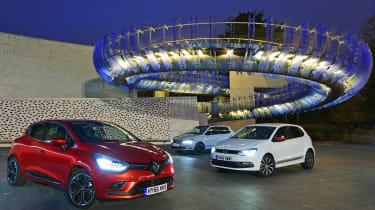 Renault Clio vsSkoda Fabia vs VW polo