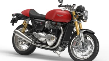 Triumph Thruxton R review - red front