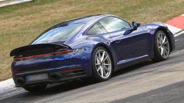Porsche 911 blue spoiler rear