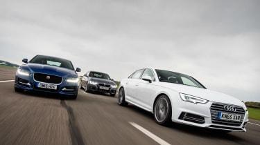 Audi A4 vs Jaguar XE & BMW 3 Series