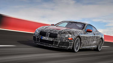 New BMW 8 Series spy shots front