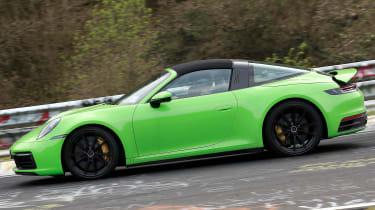 Porsche 911 Targa spies - side