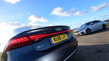 Mercedes CLS vs Audi A7 Sportback - rear