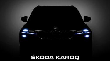 Skoda Karoq teaser front