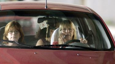 Motorist on mobile phone