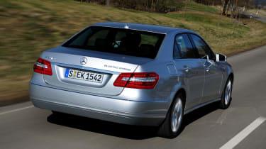 Mercedes E300 BlueTEC Hybrid rear tracking