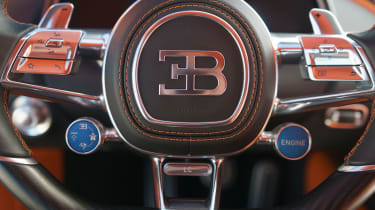 Bugatti Chiron - steering wheel detail