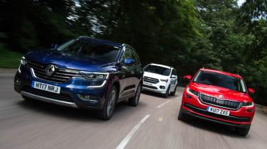 Renault Koleos vs Skoda Kodiaq vs Ford Kuga