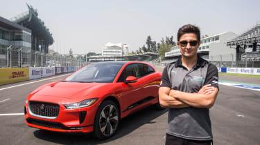 Jaguar I-Pace vs Tesla Model X P100D launch race driver