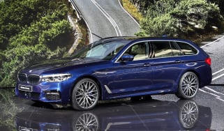 New BMW 5 Series Touring - Geneva front quarter