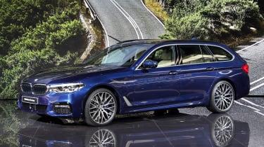 New BMW 5 Series Touring - Geneva front quarter
