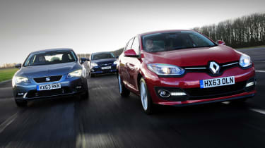 Renault Megane vs Ford Focus vs SEAT Leon