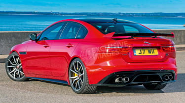 Jaguar XE SVR - rear (watermarked)