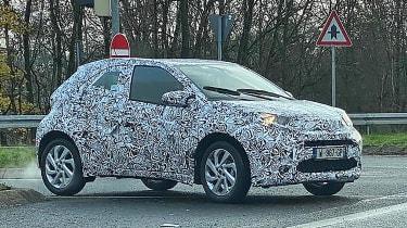 Toyota Aygo 2021 spy - front