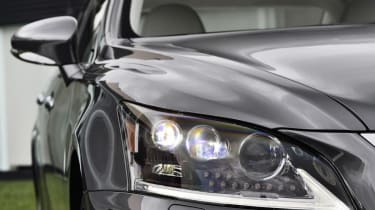Lexus LS 600h headlight detail