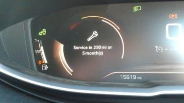 Peugeot 3008 - long term update 2 service reminder