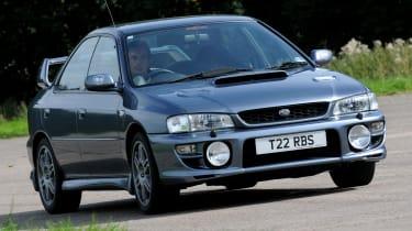 Subaru Impreza WRX STI corner
